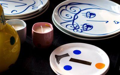 Farverigt porcelæn